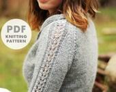 PDF download: Elskling Cropped Cardigan (knitting pattern)