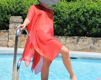 Hot Tamale ... hand painted silk beach, swimsuit cover