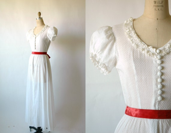 1930s wedding dress vintage white dotted swiss by for Dotted swiss wedding dress