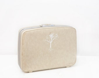 Vintage Samsonite Suitcase with Screen Printed Tree of Life