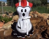 Sassy Ghost Halloween Apron Costume, Pin Up, Women Plus Sizes, Kitchen, Retro Apron, Ghost, Trick or Treat!