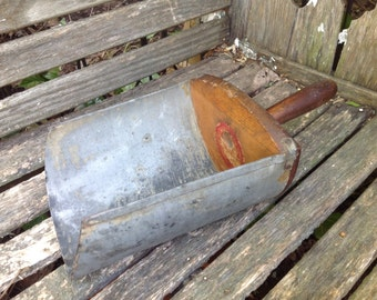 Vintage Old Metal and Wood Rusty Primitive Scoop Farmhouse Decor