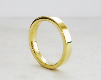 3mm Gold comfort fit wedding band | Recycled Gold | 1.85mm THICK 14k 18k Gold Wedding Band | Women's wedding band | For her for him