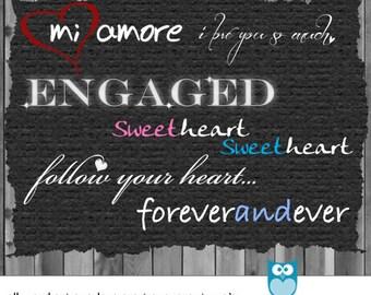 Photography Love Words - Photoshop Overlay - Digital Scrapbook Word