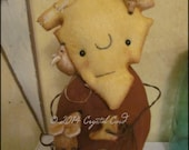 Anthropomorphic Cheese head Doll mice Kitchen decor Whimsical creepy cute country decor Farm Garden HaFair