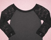 Nocturnal raglan sleeve top