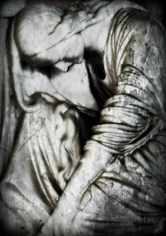 8x12 Sorrow, Cemetery Art, Halloween Photography