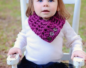 3 Sizes Scarflette Toddler Scarf Toddler Girl Scarf Toddler Scarflette Womens Scarf Womens Scarflette Purple Scarf Purple Scarflette Plum