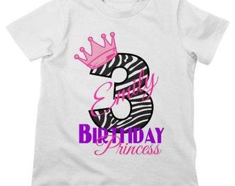 Birthday Crown Shirt or Bodysuit - Personalized Birthday Shirt