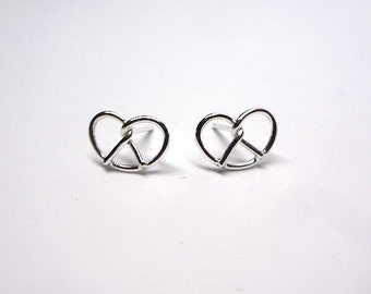 Silver Pretzel Earrings by Sarah Cecelia Philly love knot earrings