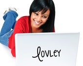 Lovely Laptop Decal - Macbook Decal - Computer Sticker -