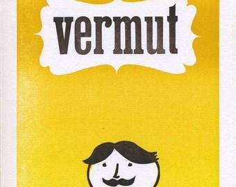 Vermut letterpress print