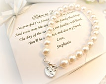 Wedding Gift For Sister In Law : ... Bracelet, Sister In Law Bridesmaid Attendant Wedding Gift for sister