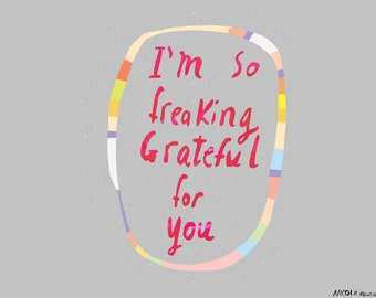 So grateful for you card cc82