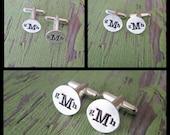 custom monogram cuff links