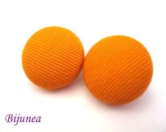 Orange earrings - Orange stud earrings - Orange posts - Orange studs - Peach post earrings sf157