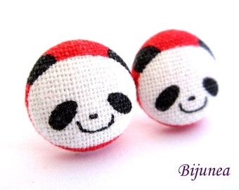 Panda earrings - Panda earrings - Panda stud earrings - Panda studs - Panda posts - Panda post earrings Bear earrings sf1165