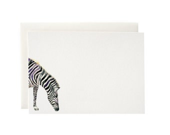 Zebra Flat Notecards