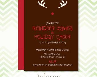 "Holiday Rudolph Party Invitation - ""Rudolph"""
