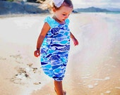 Ocean Bubble Romper - Fish Dress - Blue Romper