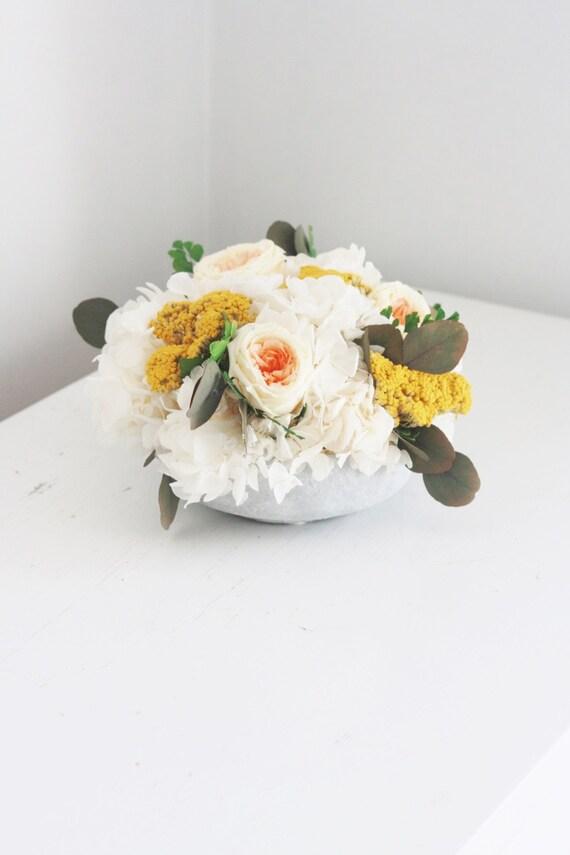 NEW-jardim de rosas no pêssego-DIA DE MÃES-moderno arranjo de flores secas