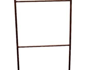 Vintage Industrial Solid Iron Freestanding Display Rack Trellis