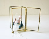 Vintage Glass and Brass Box - Display Case - Christmas Decor