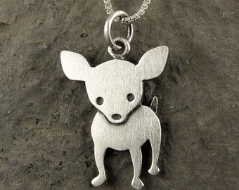 Larger chihuahua necklace / pendant