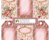 Jewelry Holders 1296 Digital Collage Sheet Printable Gift Tags Victorian Roses