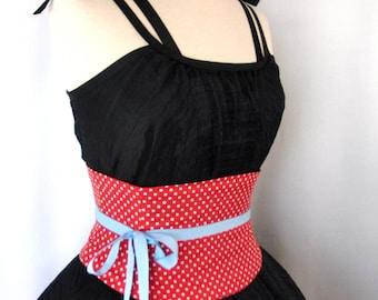 Any Size Retro Red Polka Dot Waist Cincher Corset Belt B