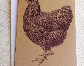 Chicken Cards, Hen Cards, Set of 10