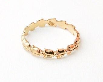 Tulip Ring (18K yellow gold)