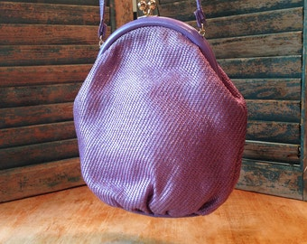 Cool 70s Round Lavender  Shirl Miller Shoulder Bag