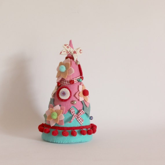 Christmas tree pink and blue by roxycreations on etsy - Pink and blue christmas tree ...