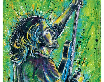 Dave Grohl  Foo Fighters - 18 x 24 High Qulaity Art Poster