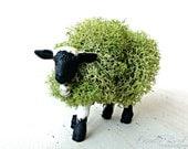 Moss Animal Topiary: Miniature Lamb Sheep Figurine
