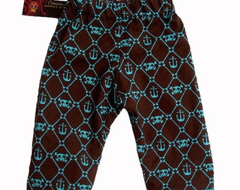 Anchor Baby - Skull and Crossbones - Baby Boy Pants - Skull Baby Clothes -  Sizes newborn to 18m