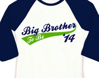 Big Brother To Be shirt- team RAGLAN tee-perfect pregnancy announcement