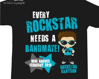 Rockstar big brother shirt bandmate pregnancy announcement DARK Tshirt