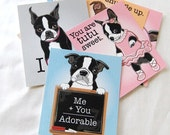 Boston Terrier Valentines - Candy Colors - Mini Eco-friendly Set of 8
