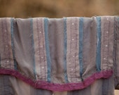 SALE 20% Off Smokey Gray Blue & Teal OOAK Silk Chiffon Felted Stole/Shawl