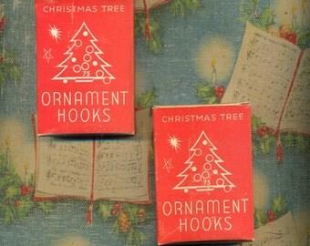 Vintage Christmas Tree Ornament Hangers Two Boxes Retro