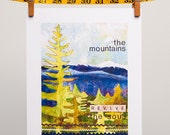 "Mountain Forest Landscape ""The Mountains Revive the Soul""  8x10 Art Print"