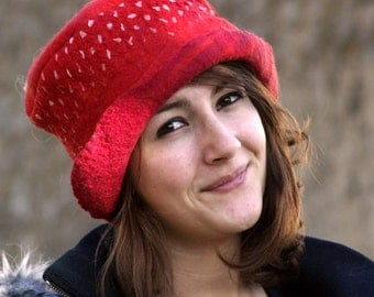 Handmade Felt hats Unique Felt Hats Felted hats millinery hat felt Hat