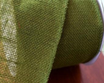 "Moss green wired burlap ribbon, 4"" wide burlap, burlap ribbon, burlap, green ribbon"