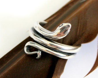 Silver Snake Ring 382