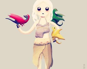 Mother of Dragons - Illustration Print