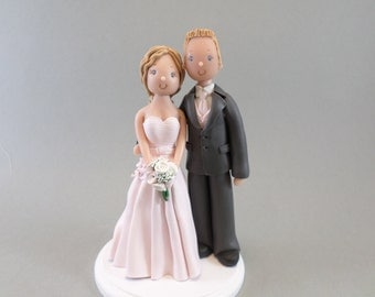 Wedding Cake Topper - Custom Handmade Bride & Groom