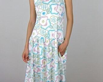 Cotton Pastel 80's Jumper Dress