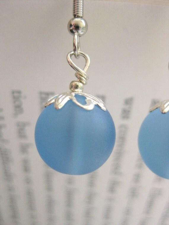 Beachberries in Blue - Earrings